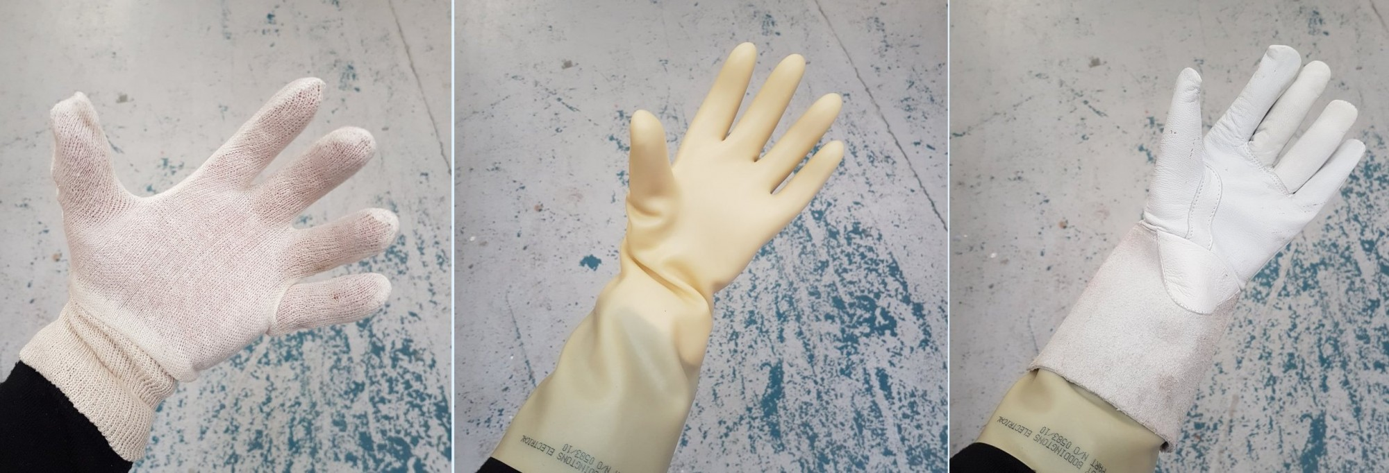 3 pairs of gloves